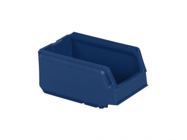 Kunststof magazijnbak - 250x148xH130mm - blauw
