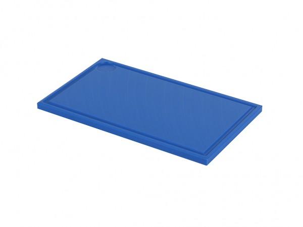 Kunststof snijplank - 500x300x20mm - blauw - met sapgeul