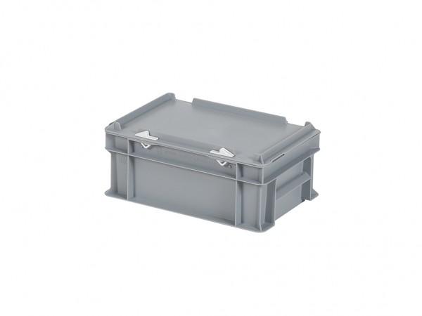 Stapelbak met deksel - 300x200xH133mm - grijs