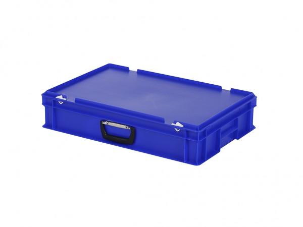 Koffer - 600x400xH135mm - blauw