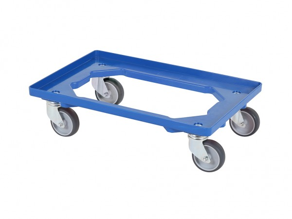 Kunststof dolly - 600x400mm - blauw