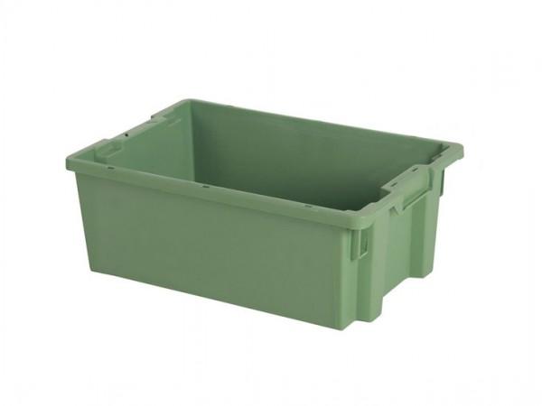 Stapel-nestbare bak - 600x400xH220mm - groen