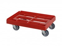 Kunststof dolly - 600x400mm - rood 52.TR6040.4.E