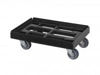 Kunststof dolly - 600x400mm - zwart 52.TR6040.4.K