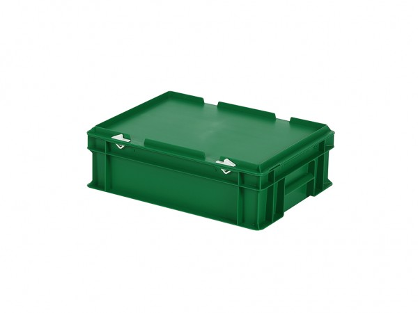 Stapelbak met deksel - 400x300xH133mm - groen