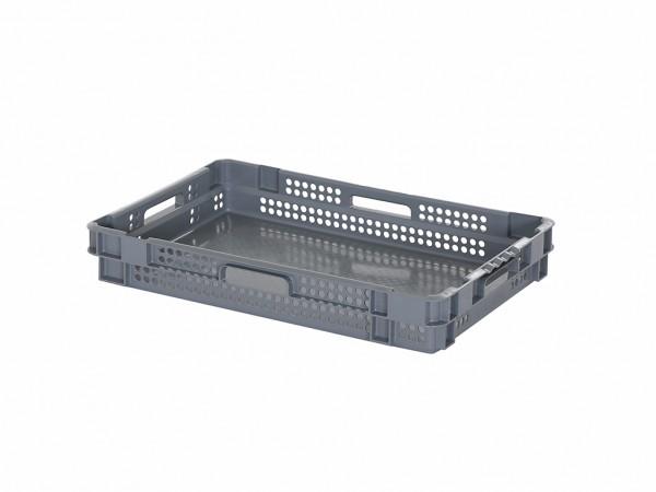 SALE - Stapel-nestbare krat - 600x400xH90mm - grijs