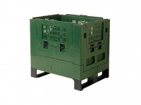 Inklapbare palletbox - 800x600xH760mm - groen 2620.410.481