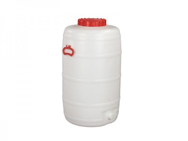 Kunststof vat met uitloop - 125 liter - naturelwit
