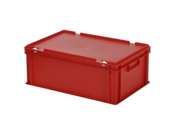 Stapelbak met deksel - 600x400xH235mm - rood