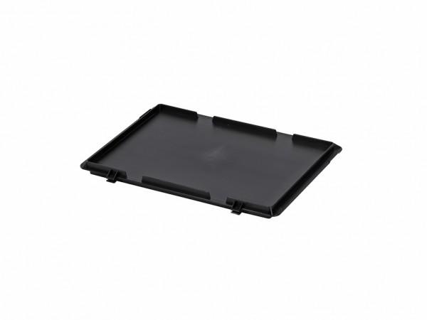 Kunststof scharnierdeksel 400x300mm - zwart