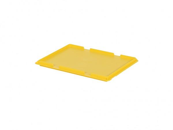 Kunststof scharnierdeksel 400x300mm - geel