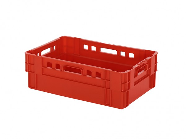 SALE - Stapel-nestbare bak - 600x400xH200mm - rood