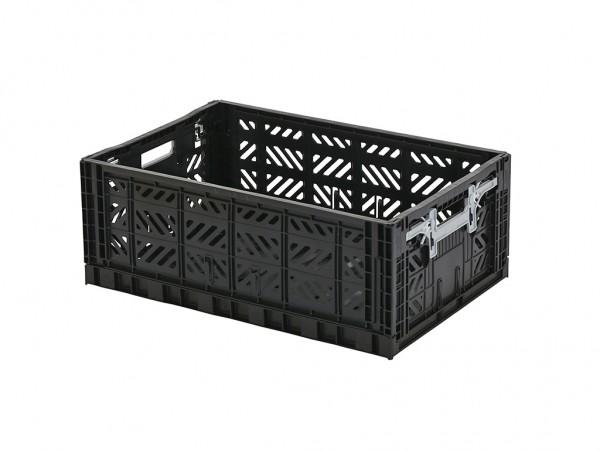 SALE - MULTIWAY klapkrat - 600x400xH220mm - zwart - grijze grepen