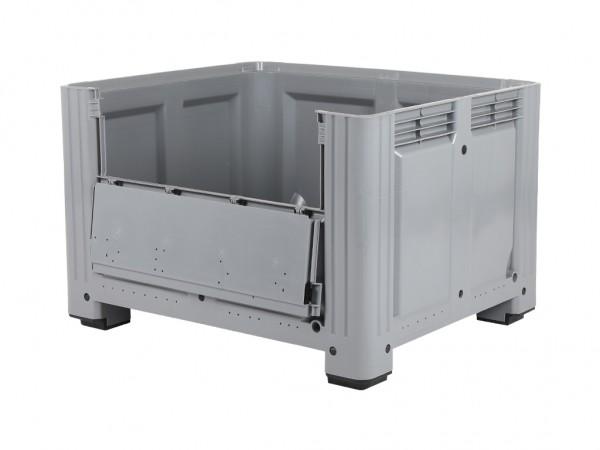 Palletbox - 1200x1000mm - op 4 poten - met klep - grijs