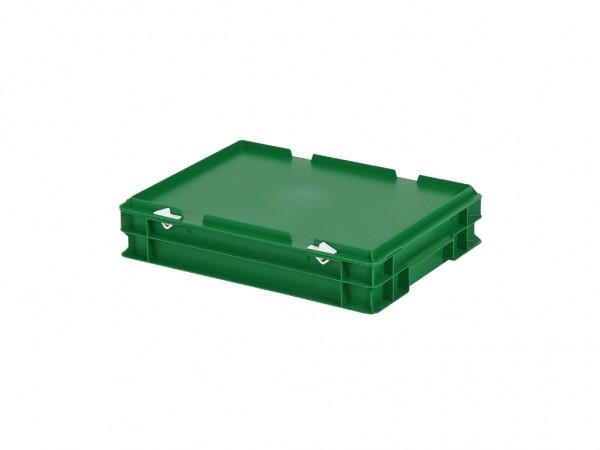 Stapelbak met deksel - 400x300xH90mm - groen