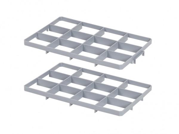 Set vakverdelingen 12 vaks voor stapelkrat - vakafmeting 137 x 117 mm